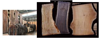 多種多量の天然木一枚板