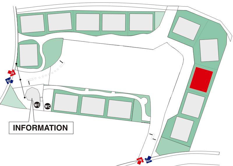 桃山六地蔵住宅博場内地図