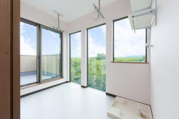 洗濯物干し室 京都・滋賀の注文住宅 天然木の家