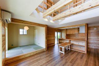 リビング杉板|京都・滋賀の注文住宅 天然木の家