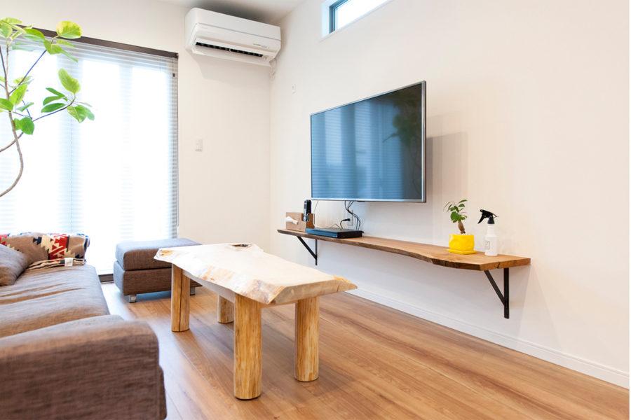 トチのローテーブル|京都・滋賀の注文住宅 天然木の家