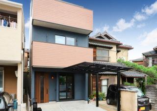 京都市内|延床面積27坪の狭小住宅3階建て|京都・滋賀の注文住宅 天然木の家