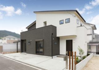 片流れ屋根が特徴のスタイリッシュな外観|京都・滋賀の注文住宅 天然木の家
