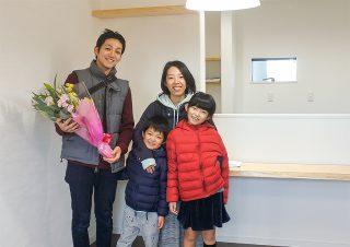 Iさまご家族セレモニーにて 京都・滋賀の注文住宅 天然木の家